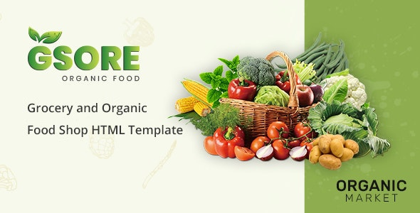 Gsore Grocery and Organic Food Shop HTML Template