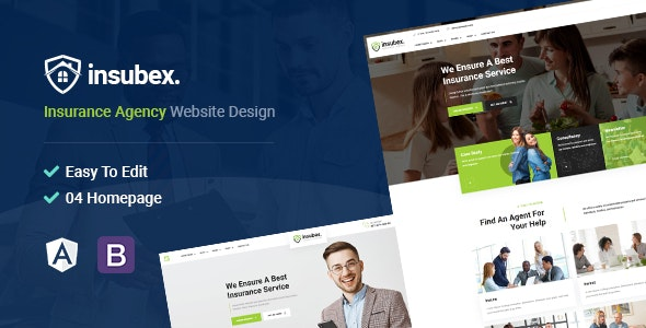 Insubex | Insurance & Consulting Angular Template - Business Corporate