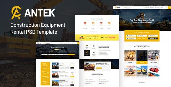 Antek - Construction Equipment Rental PSD - Business Corporate
