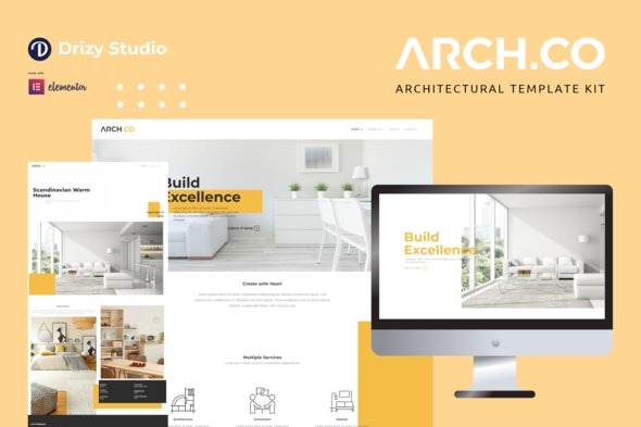 Archco - Architecture Elementor Template Kit - Real Estate & Construction Elementor