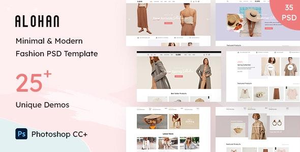 Alohan | Minimalist Fashion PSD Template - Shopping Retail