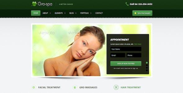 Gro-Spa  - Responsive  HTML  Template