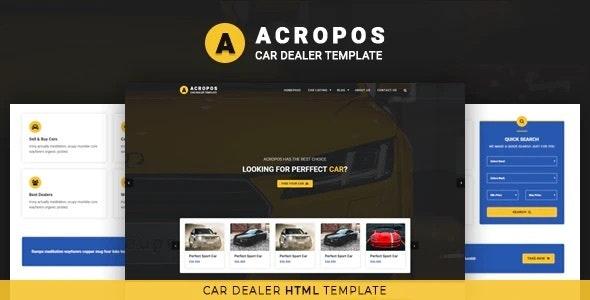 Acropos - Car Dealer HTML Template - Corporate Site Templates