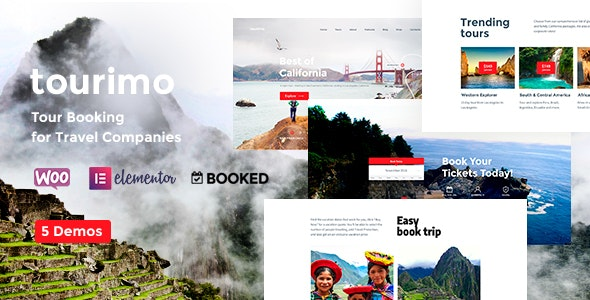 Tourimo - Tour Booking WordPress Theme - Travel Retail