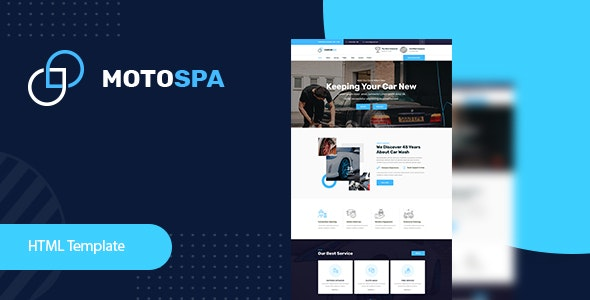 Motospa - Car Wash HTML Template - Business Corporate