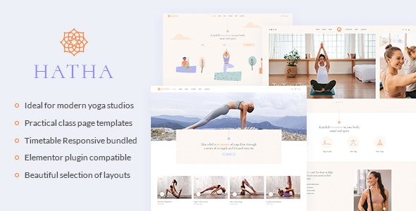 Hatha - Yoga WordPress Theme - Health & Beauty Retail