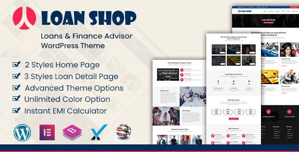 LoanShop – Loan Company & Finance Adviser WordPress Theme - Business Corporate