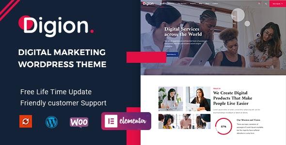 Digion - Online Digital Marketing WordPress Theme - Marketing Corporate