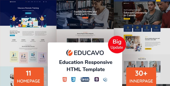 Educavo - Education HTML Template - Business Corporate