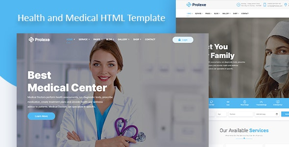 Prolexe - Health and Medical HTML Template - Health & Beauty Retail