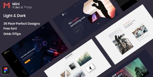 Mini - Photography & Videography Website Figma Template - Creative Figma