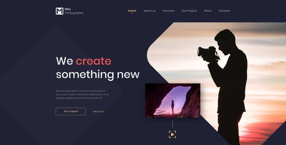 Mini - Photography & Videography Website Figma Template