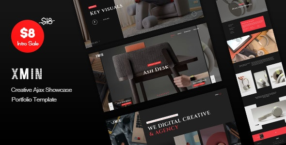 Xmin - Creative Ajax Showcase Portfolio Template - Creative Site Templates
