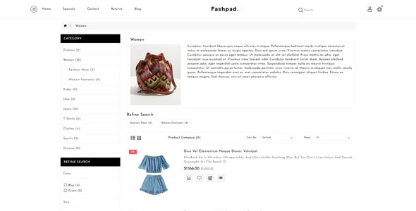 Fashpad - Opencart 3 Fashion Responsive Theme