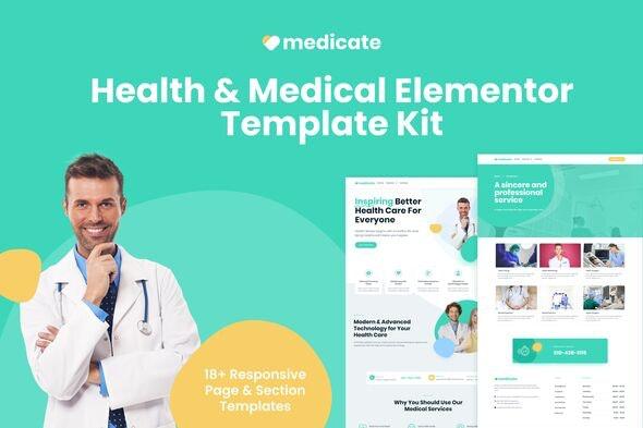 Medicate - Health & Medical Elementor Template Kit - Health & Medical Elementor
