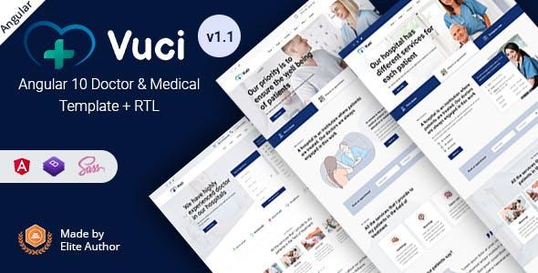 Vuci - Angular 10+ Doctor & Medical Template
