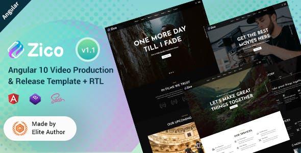Zico - Angular 10+ Video Production Template