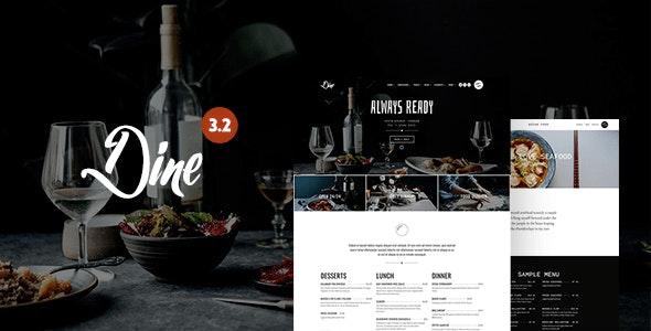 Dine - Elegant Restaurant WordPress Theme - Restaurants & Cafes Entertainment
