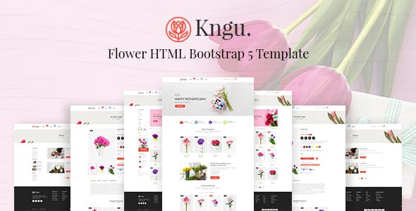 Kngu - Flower HTML Bootstrap 5 Template