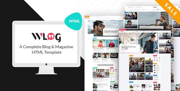 Wlog - Blog and Magazine HTML Template - Creative Site Templates