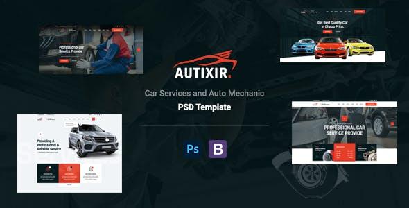 Autixir - Car Repair Services & Auto Mechanic PSD Template.
