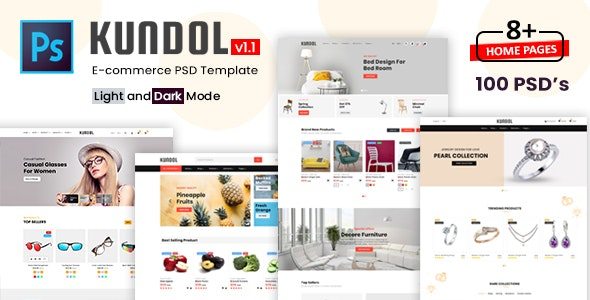 Kundol - Multipurpose Shopping PSD Template - Retail Photoshop