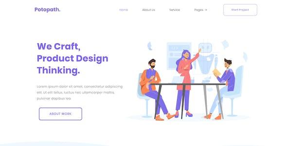 Potopath - Digital Agency Elementor Template Kit