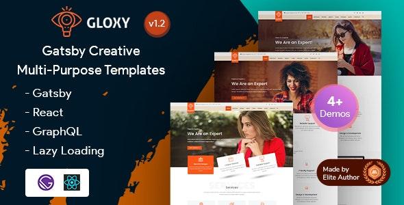 Gloxy - Gatsby React Multi-Purpose Portfolio Landing