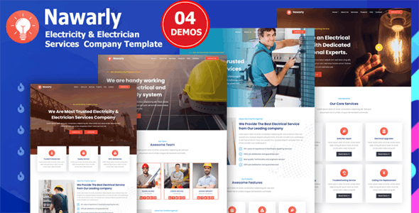 Nawarly - Electricity Repairing & Electrician Services Template - Business Corporate