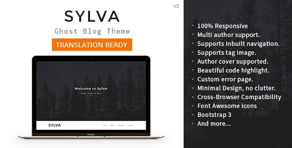 Sylva - Responsive Minimal Ghost Theme - Ghost Themes Blogging