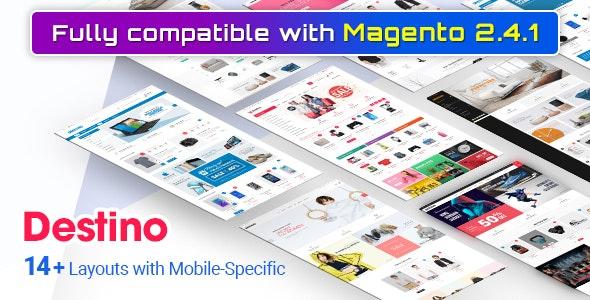 Destino - Premium Responsive Magento Theme with Mobile-Specific Layouts - Shopping Magento