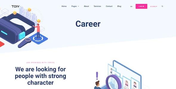 Toiv – SEO & Marketing Agency Elementor Template Kit