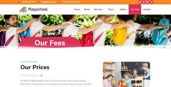 Playschool - Childcare & School Elementor Template Kit