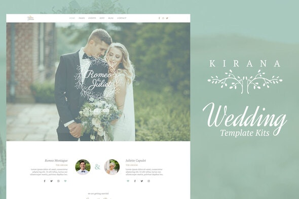 Kirana - Wedding Elementor Template Kits - Weddings Elementor