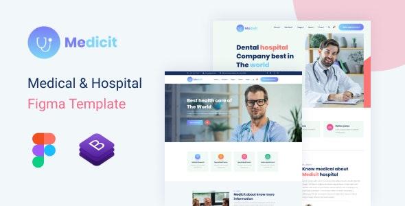 Medicit – Medical and Health Figma Template - Figma UI Templates