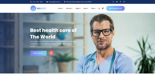 Medicit – Medical and Health Figma Template