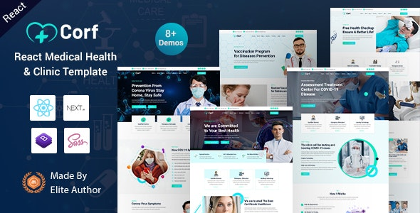 Corf - React Next Medical Health Template - Health & Beauty Retail