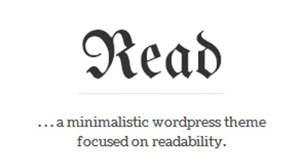 Read WP - Minimalist WordPress Blog Theme
