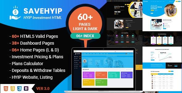 SaveHyip | HYIP Investment Business Website HTML5 Template - Business Corporate