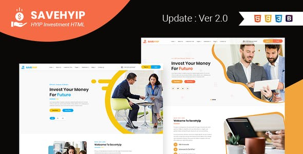 SaveHyip | HYIP Investment Business Website HTML5 Template