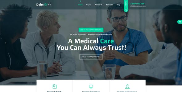 Delmont - Medical & Health HTML5 Template