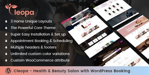 Cleopa - Health & Beauty Salon With WordPress Booking - Health & Beauty Retail