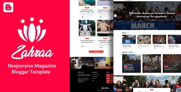 Zahraa - Lifestyle Blog & Magazine Blogger Template - Blogger Blogging