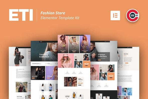 ETI - Fashion Store Elementor Template Kit - Shopping & eCommerce Elementor