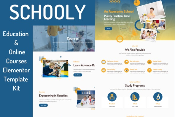 Schooly - Education & Online Courses Elementor Template Kit - Education Elementor