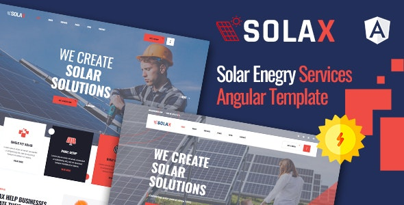 Solax | Solar Energy Angular Template - Corporate Site Templates
