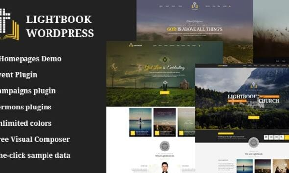 Church Events WordPress Theme - LightBook - Churches Nonprofit