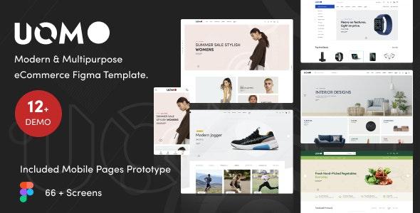 Uomo - Modern & Multipurpose eCommerce Figma Template - Retail Figma