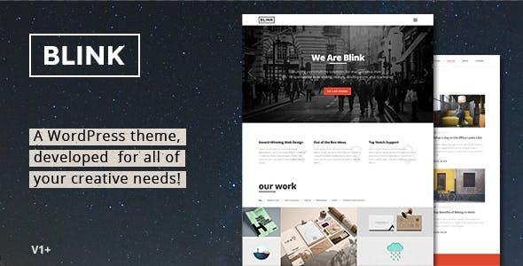 Blink - Parallax One Page WordPress Theme
