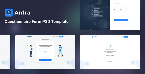 Anfra - Questionnaire Form PSD Template